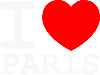 Nadruk I Love Paris